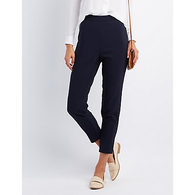 High-Rise Tapered Trousers