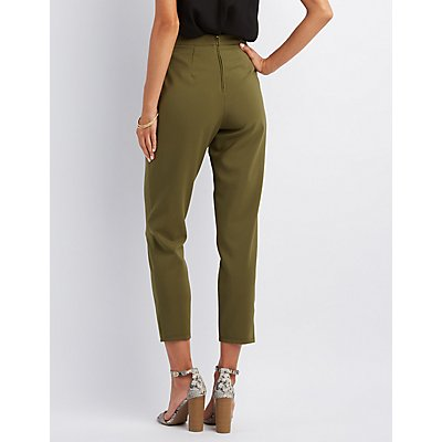 High-Rise Ankle Trousers