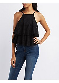 Layered Lace Tank Top