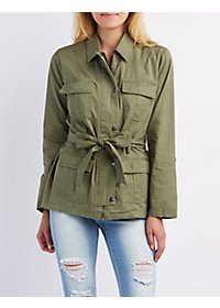 Tied Cargo Anorak Jacket