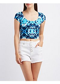 Tie-Dye Cotton Crop Top