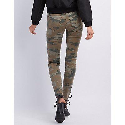 """Refuge """"Skin Tight Legging"""" Camo Jeans"""
