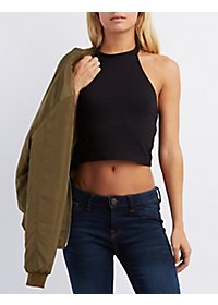 Bib Neck Caged Cropped Tank