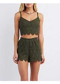 Teardrop Crochet Crop Top