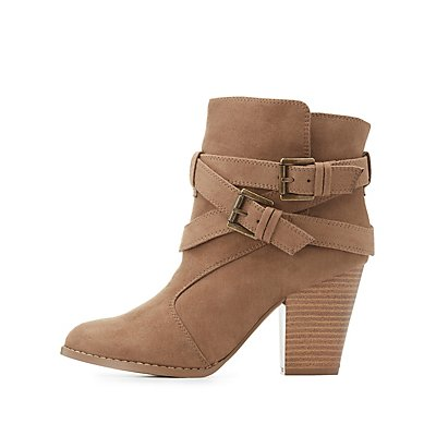 Strappy Buckled Ankle Booties