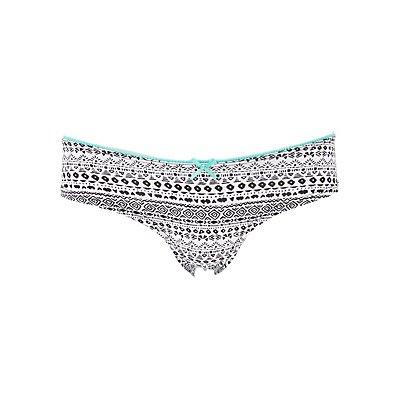 Lace-Back Printed Cheeky Panties
