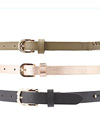 Studded, Braided, &  Metallic Belts - 3 Pack