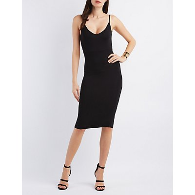 Knotted Low Back Bodycon Dress