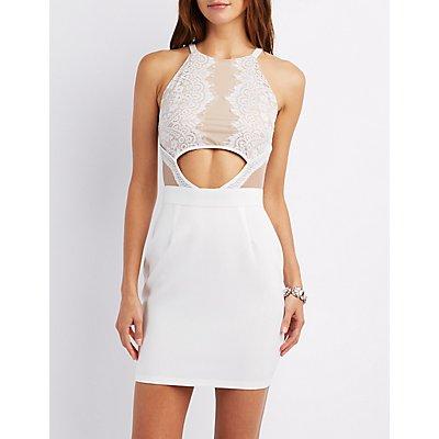 Cut-Out Lace Bodycon Dress
