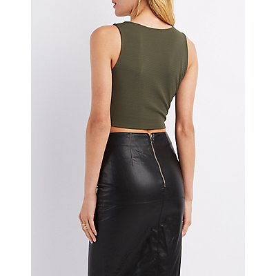 Wrapped V-Neck Crop Top