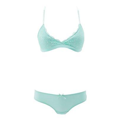 Lace Bralette & Cheeky Panties Set