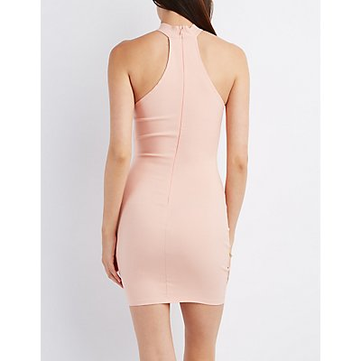T-Front Collared Bodycon Dress