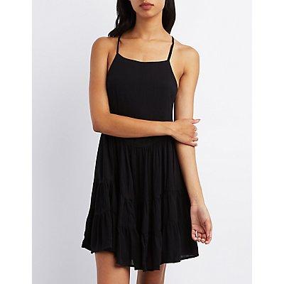 Tie-Back Babydoll Dress