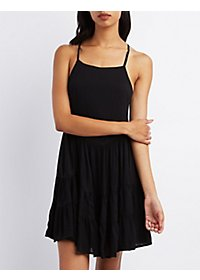 Tie-Back Babydoll Dress