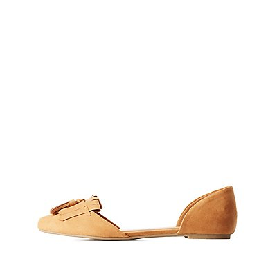 Fringed D'Orsay Flats