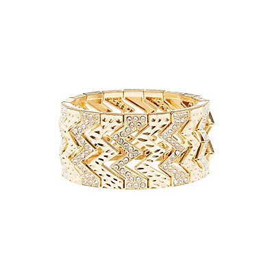 Chevron Stretch Cuff Bracelet