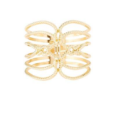 Metal Rope Cuff Bracelet