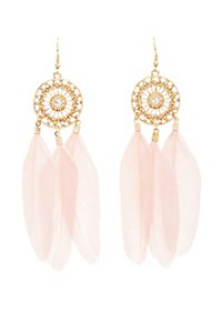 Dreamcatcher Feather Earrings