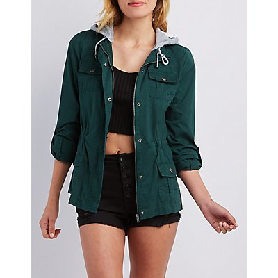 Removable Hood Anorak Jacket