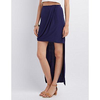 Draped High-Low Skirt