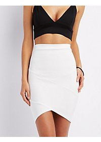 Envelope Hem Pencil Skirt