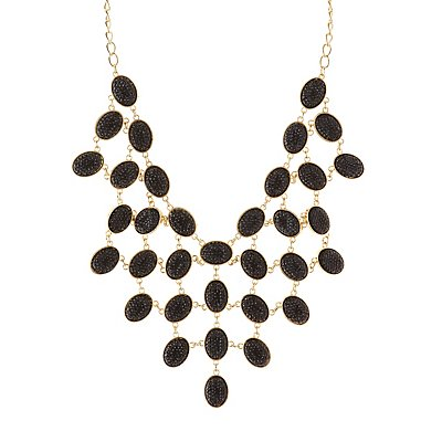 Sparkling Stone Bib Necklace