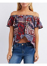 Layered Off-the-Shoulder Crop Top