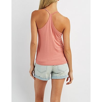 Strappy Caged Racerback Tank