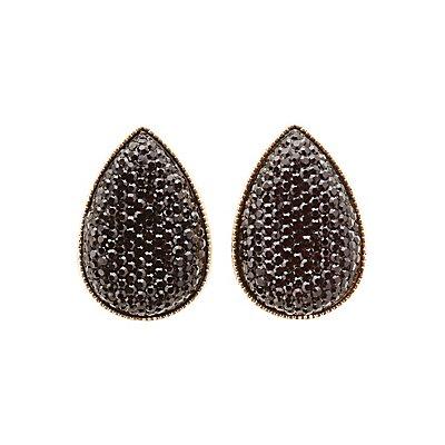 Sparkling Teardrop Stud Earrings