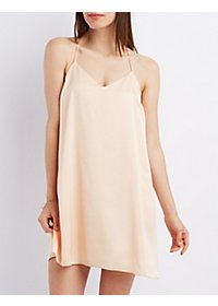 Racerback Satin Shift Dress