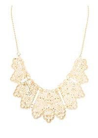 Scalloped Filigree Bib Necklace