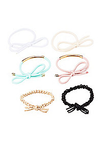 Assorted Color Hair Ties - 6 Pack