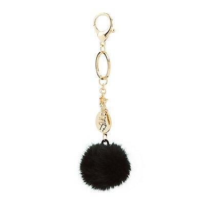 """""""Virgo"""" Zodiac & Faux Fur Keychain"""