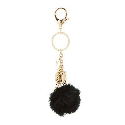 """""""Capricorn"""" Zodiac & Faux Fur Keychain"""