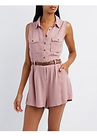 Button-Up Cargo Romper
