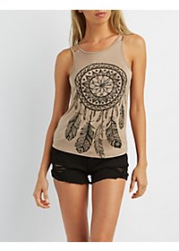 Double Strap Dreamcatcher Graphic Tank