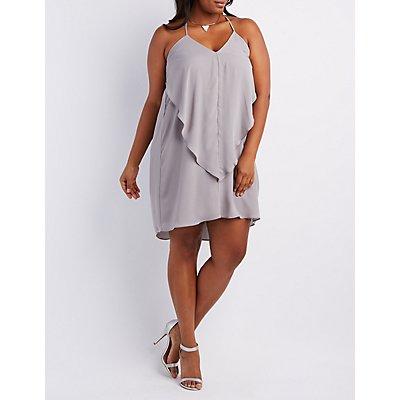 Plus Size Ruffle Shift Dress