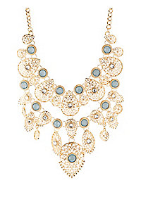 Gemstones & Filigree Bib Necklace