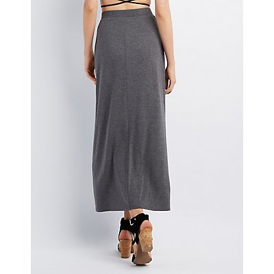 Tulip Slit Maxi Skirt