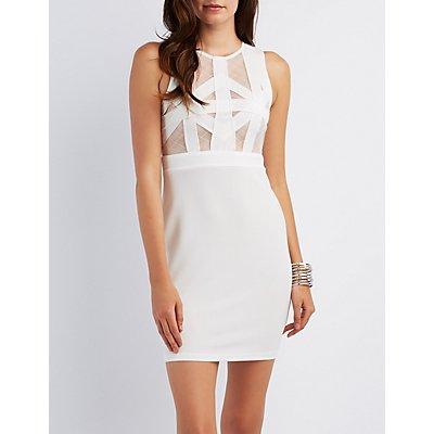 Mesh Inset Bodycon Dress