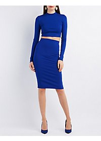 Crop Top & Pencil Skirt Hook-Up