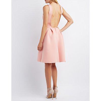 Backless Scuba Skater Dress