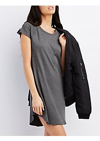 Raglan Sleeve Shift Dress