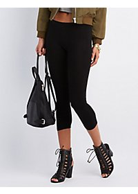 Cropped Stretch Cotton Leggings