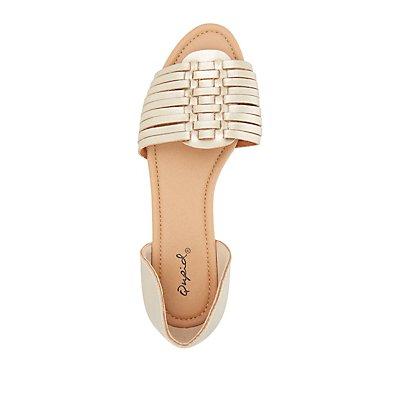 Qupid Two-Piece Huarache Sandals