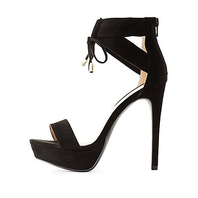 Qupid Caged Platform Dress Sandals