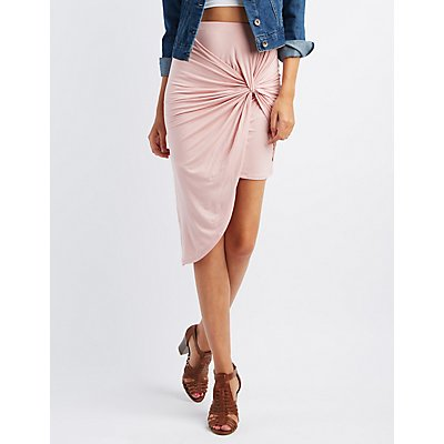 Knotted Asymmetircal Skirt