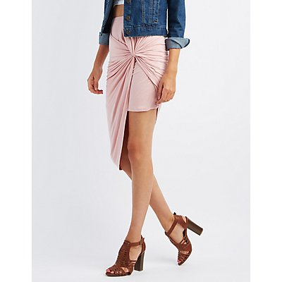 Knotted Asymmetircal Skirt