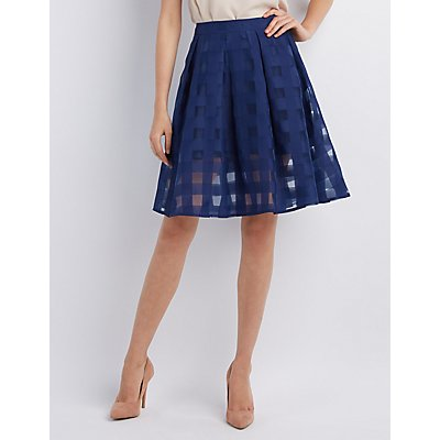 Pleated Skater Skirt