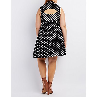 Plus Size Collared Sleeveless Dress